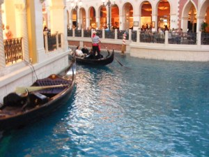 The Grand Canal at the Venetian Hotel in Las Vegas.