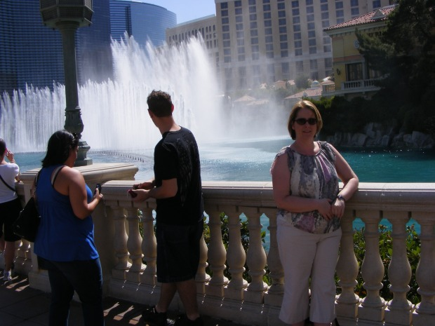 Olivia Cunning at the Bellagio