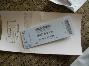 Avenged Sevenfold Concert Ticket