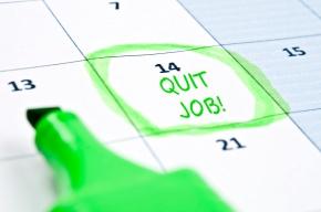 Quit job mark